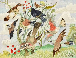165-Thrushes-in-a-bush