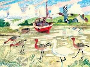 84-Godwits-&-Egrets